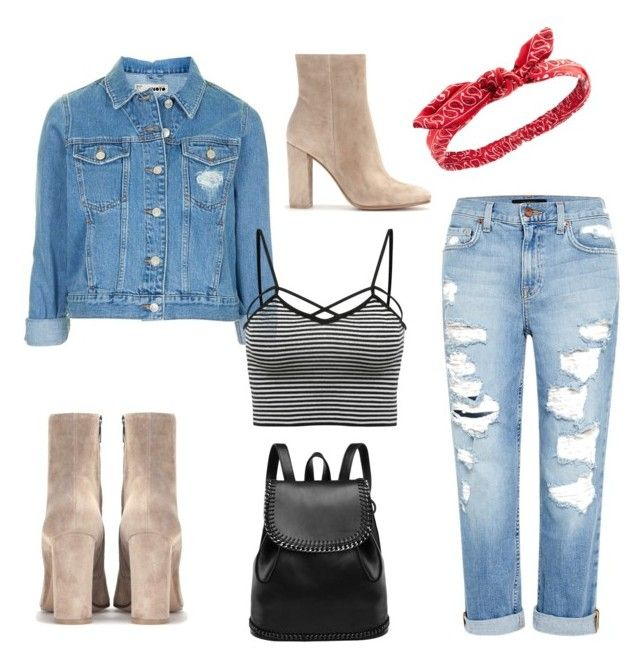 """Untitled #38"" by lolarkonkey on Polyvore featuring Topshop, Charlotte Russe, Genetic Denim and Gianvito Rossi"