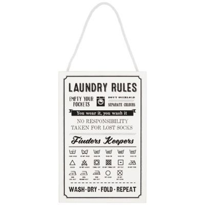 Laundry Rules in Gifts for the Home at Lakeland