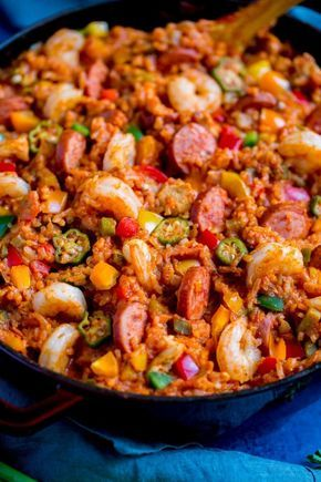 New Orleans Jambalaya Recipe #easyonepotmeals