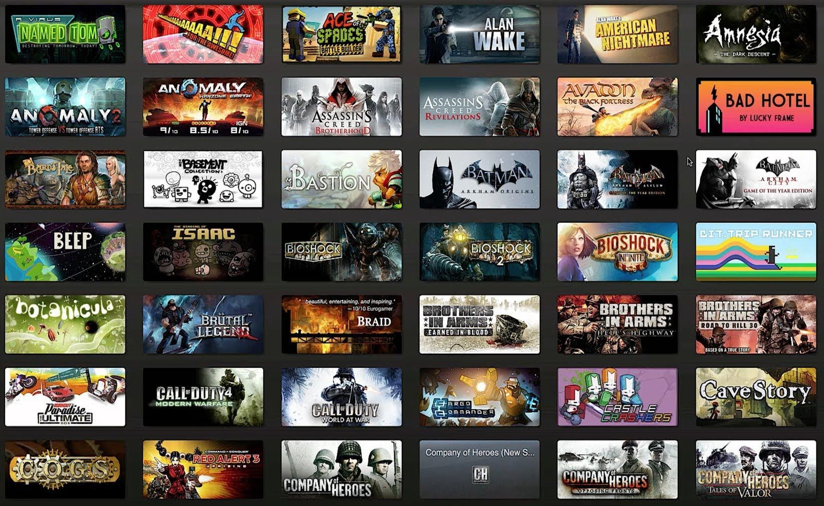 free games on steam today