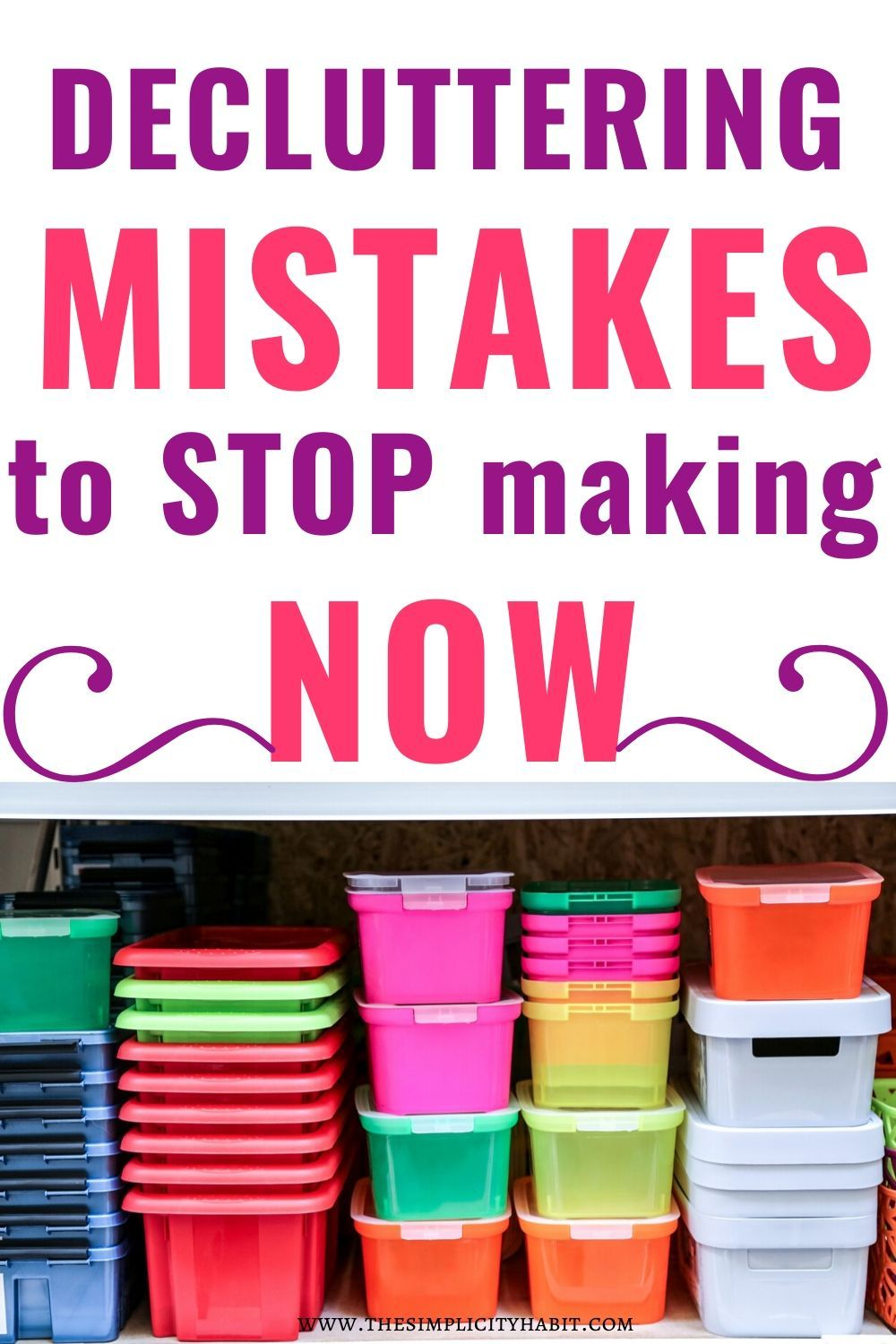 Decluttering mistakes to stop making now