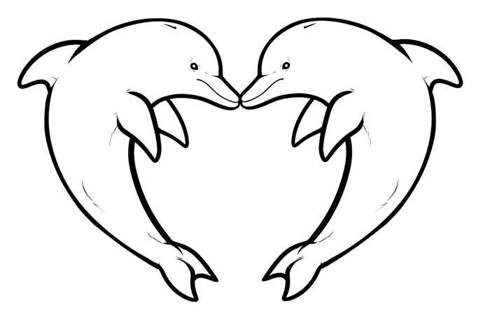 35 Free Dolphin Template Shapes Crafts Colouring Pages Dolphin Coloring Pages Heart Coloring Pages Dolphin Drawing