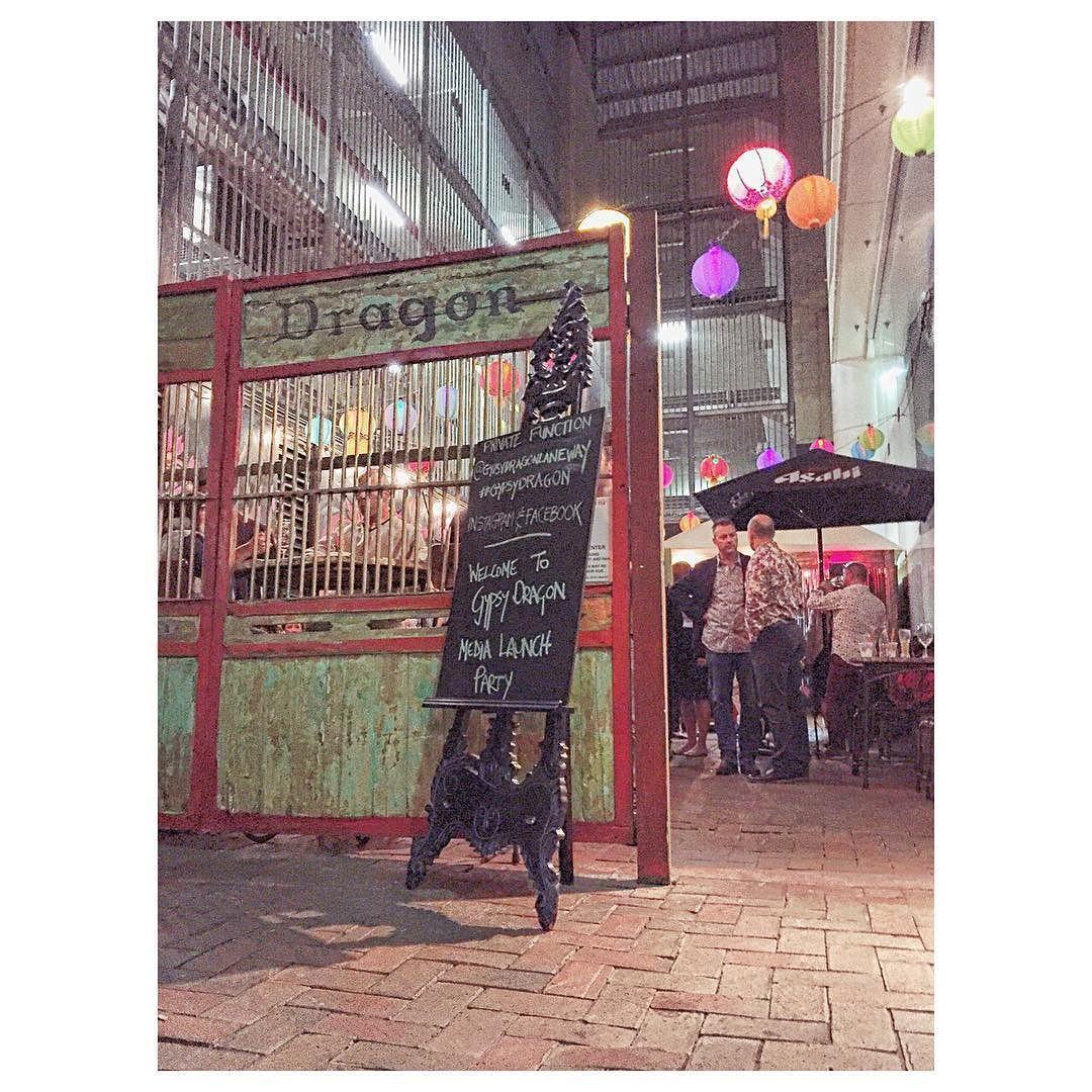 Vietnamese Espresso Martini's Fire Twirlers and more at the opening of @gypsydragonlaneway this beautiful Thursday evening  #gypsydragon #adelaide #westend #tophammall #southaustralia #bar #espressomartini #SAlife #laneway #lanewaybar by gillardben