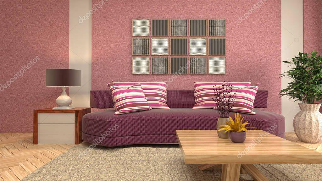 Interior Of The Living Room 3d Illustration Stock Photo Sponsored Room Living Interior Photo Ad Living Room Interior Room Living Room
