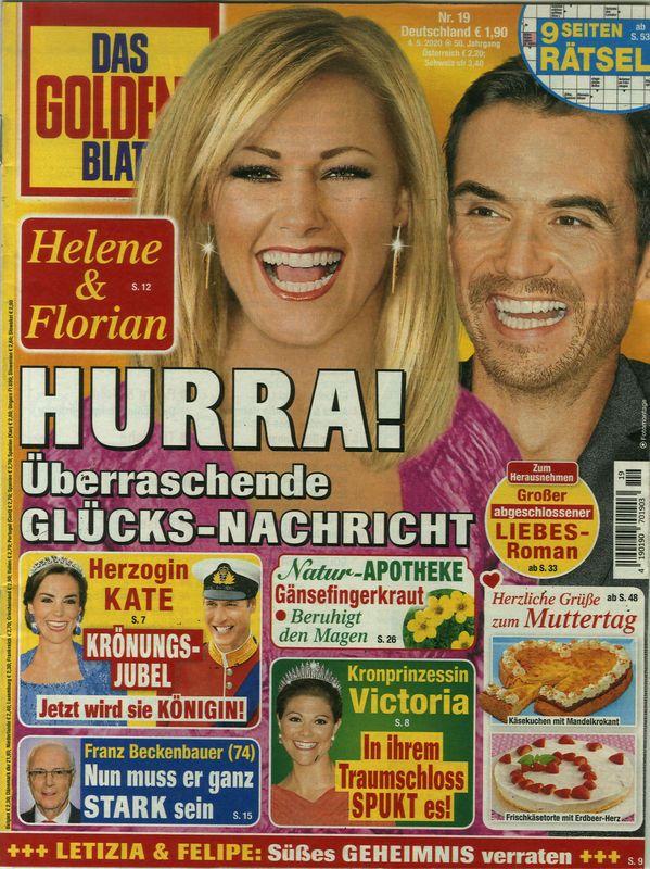 Das goldene Blatt 19/2020 Hurra! in 2020   Helene