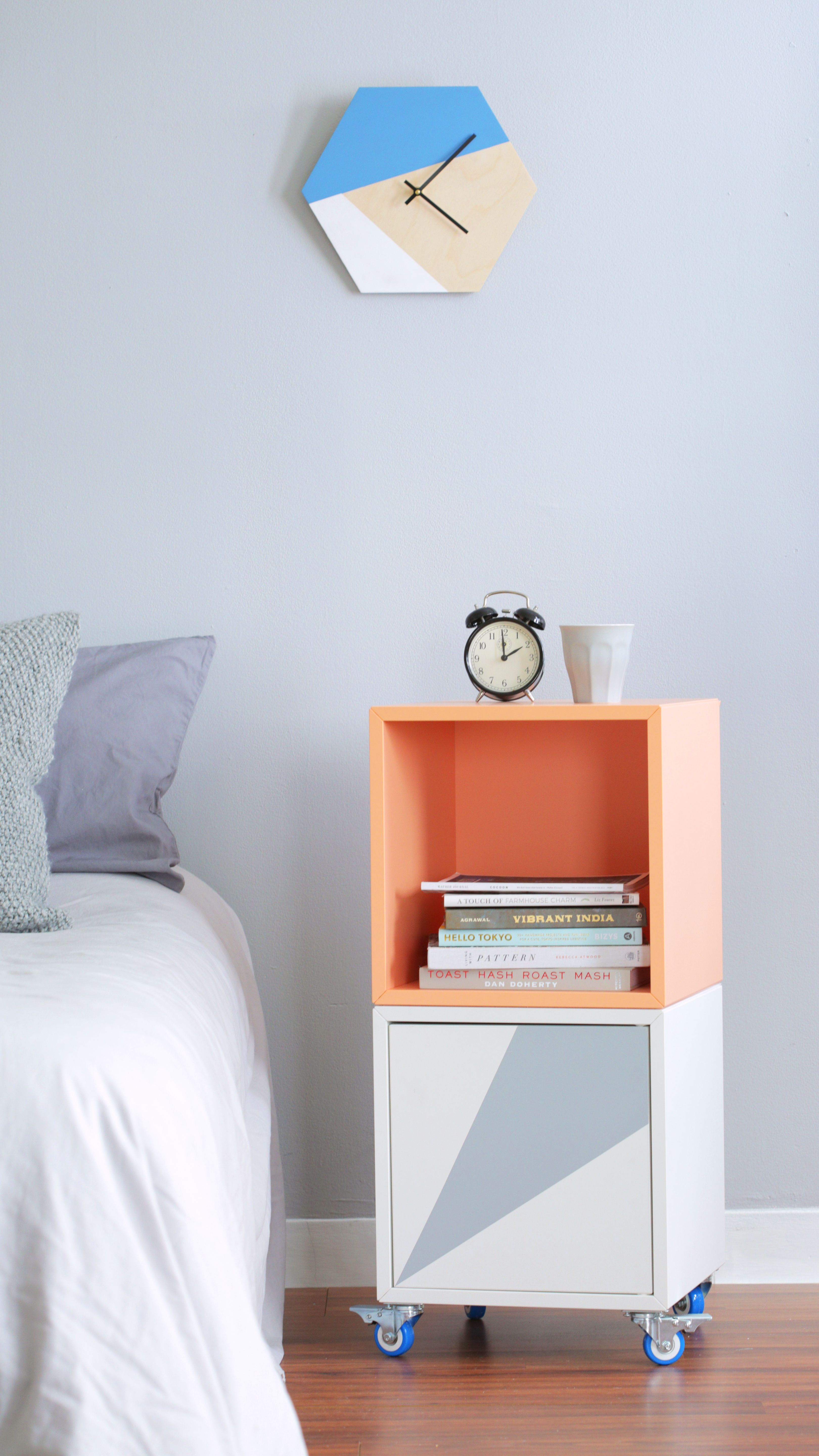How To Turn The Ikea Eket Into A Rolling Bar Cart Or Bedside Table Video From Apartment Therapy