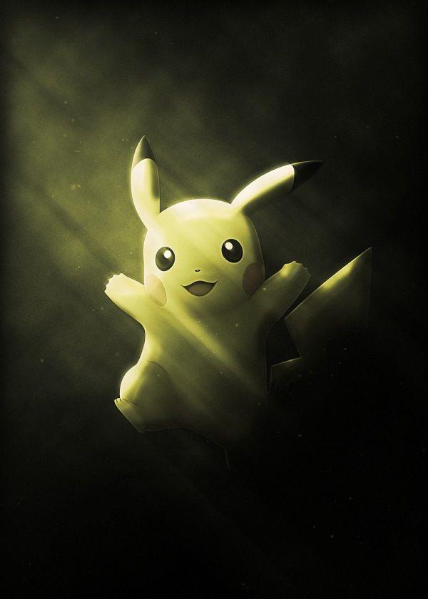 "Super Smash Bros. Ultimate Light Characters Pikachu #Displate artwork by artist ""Danaydal"". Part of… | Displate thumbnail"