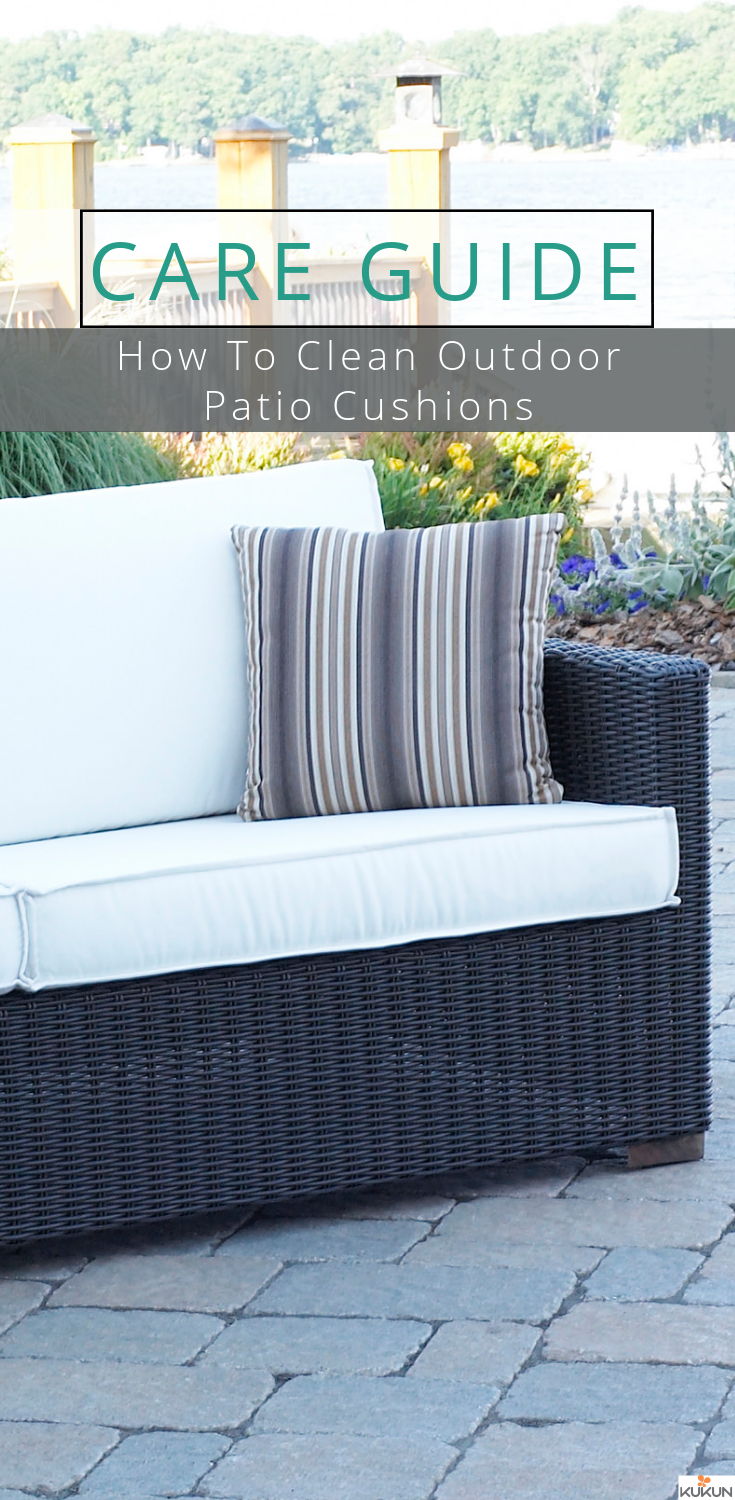 Care Guide: How To Clean Outdoor Patio Cushions? [Furniture Care, Furniture  Care