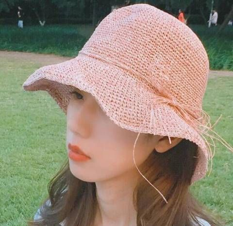 b31d67348ee Rope tie bow straw sun hats for teenage girls UV summer sun protection hats