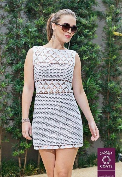 Платье с вязаным низом крючком