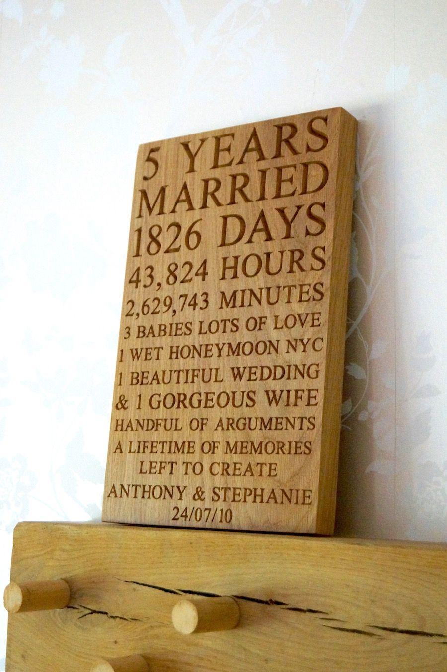 5th wedding anniversary plaques makemesomethingspecial