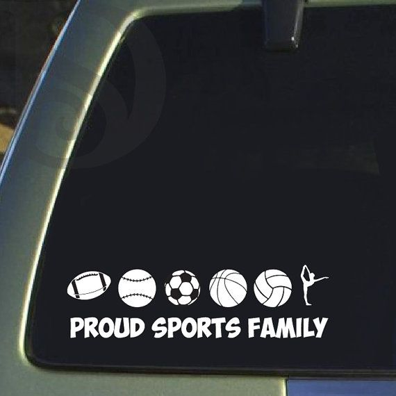 Proud sports family vinyl car decal sticker