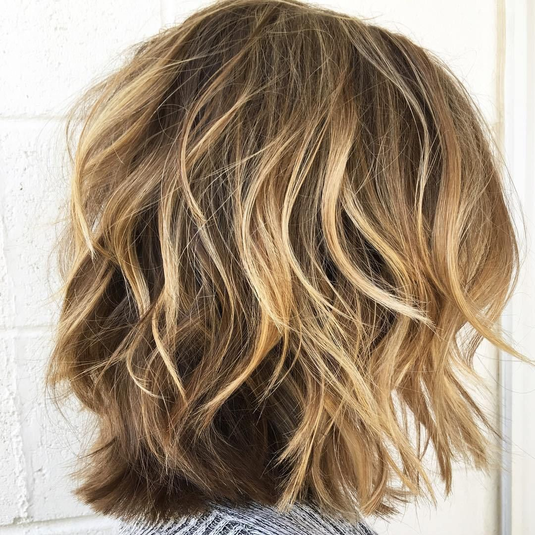 Disconnected Choppy Wavy Lob Thick Hair Styles Thick Wavy Haircuts Haircut For Thick Hair
