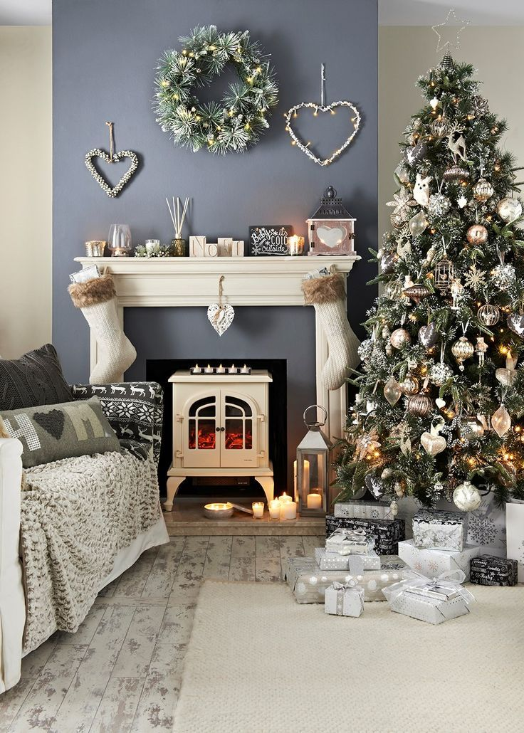 Matalan Christmas Home And Deckthehalls Competition Christmas Decorations For The Home Christmas Home Snowy Christmas Tree