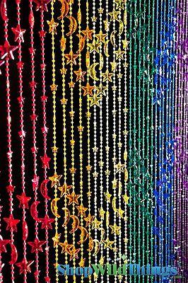 Beaded Curtain Rainbow Of Stars And Moon Bathroom Home Doorway