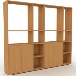 Photo of Wohnwand Eiche – Individuelle Designer-Regalwand: Türen in Eiche – Hochwertige Materialien – 229 x 1