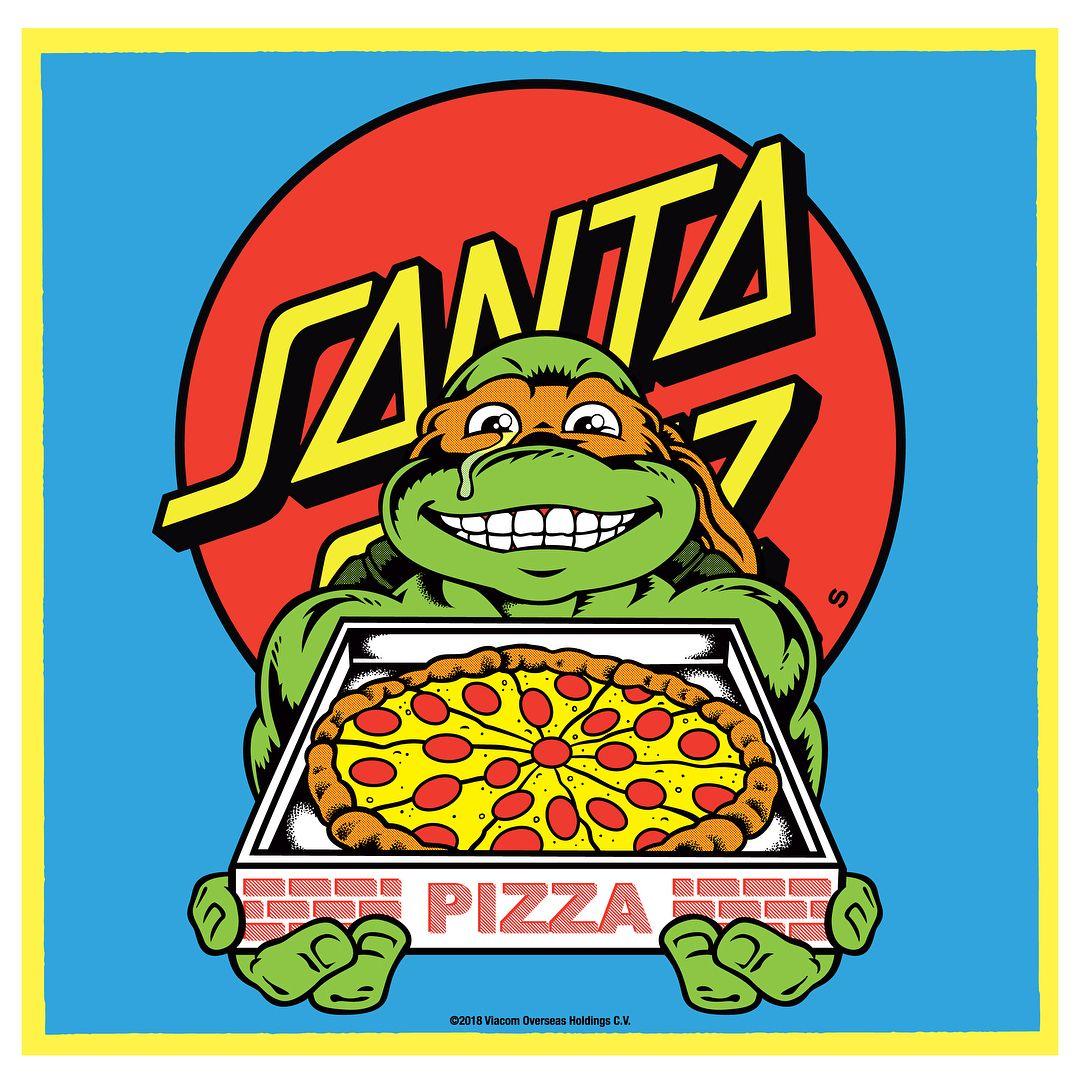 Santacruzskateboards This Holiday Grab A Slice Of Our Most Bodacious Collaboration Yet The Tmnt X Santa Cruz Colle Ninja Turtles Artwork Pizza Art Funny Art