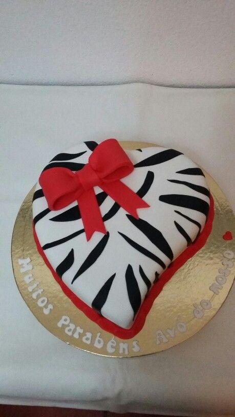 Coração zebra
