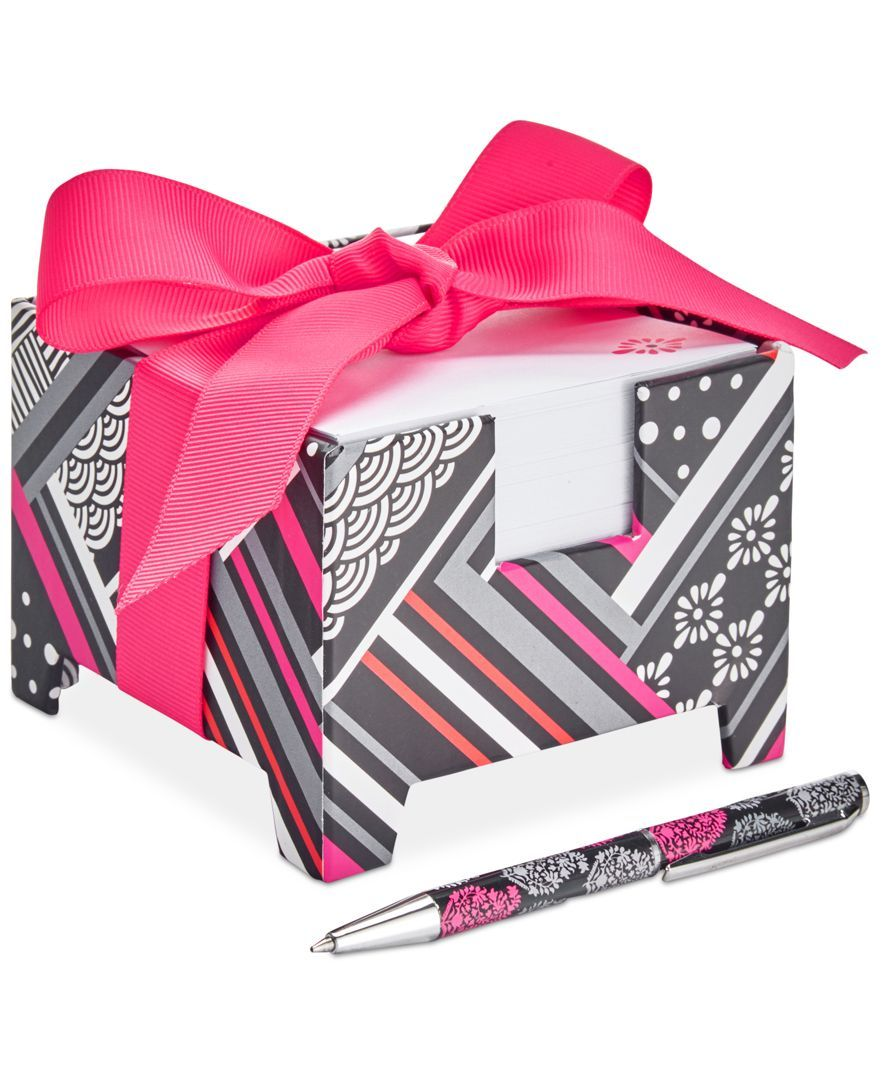 Vera Bradley Note Cube & Mini Pen