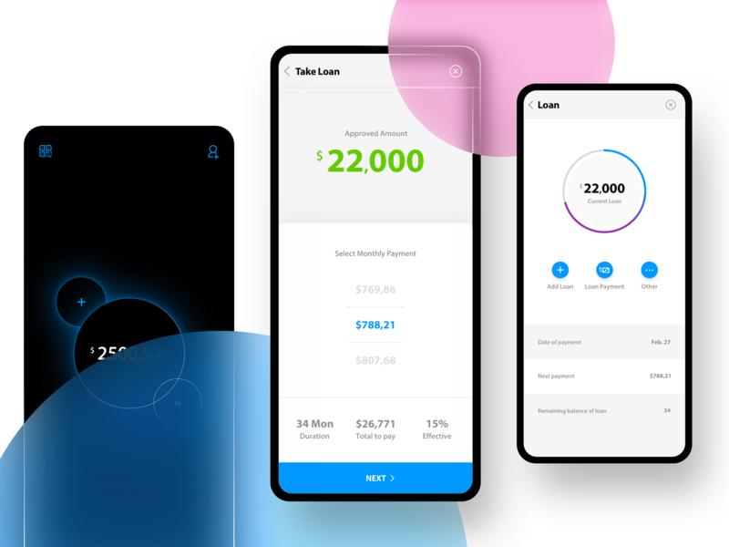 Take Loan App design, Mobile mockup, Mobile app design