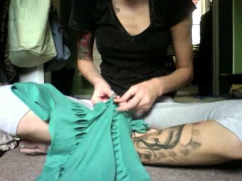 T-Shirt Reconstruction Tutorial: Corset Back Tee