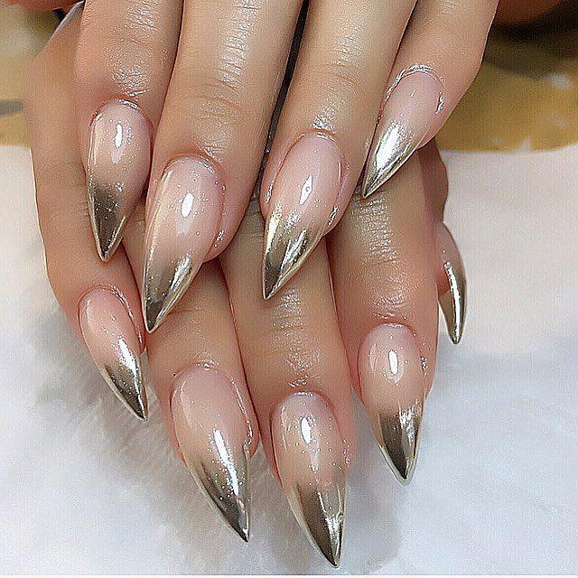 15 Diseños para atreverte intentar las uñas de forma \'Stilleto ...