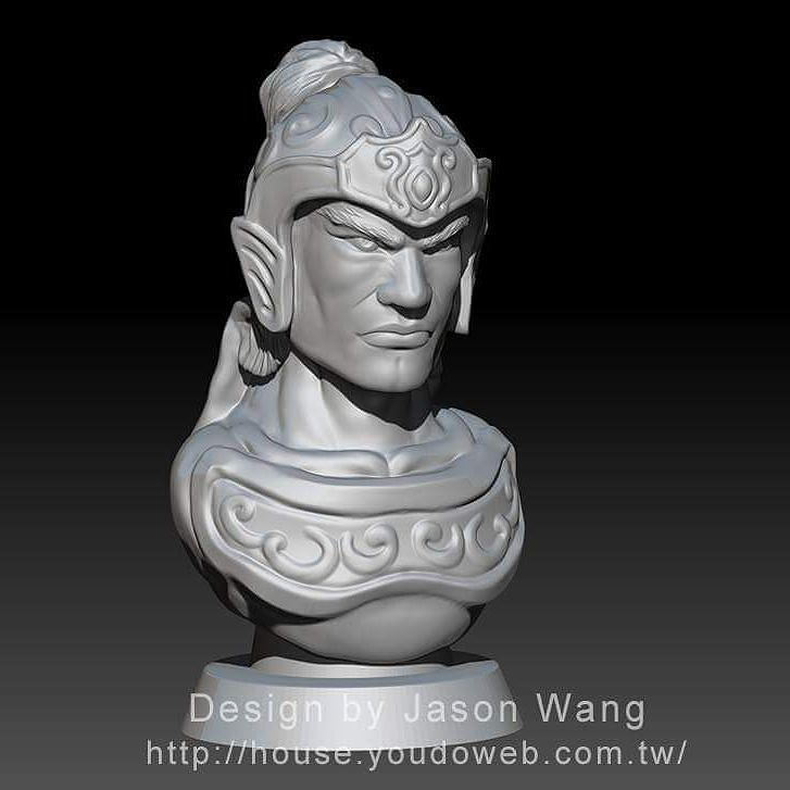 Something we liked from Instagram! #zbrush #3dprinter #3d #趙子龍 #趙雲 #三國誌 #三國 #三國演義 by ideajasonwang check us out: http://bit.ly/1KyLetq