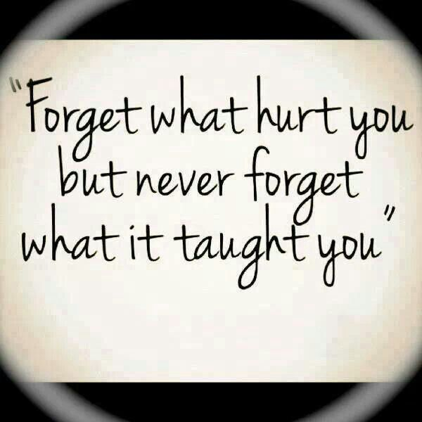 Everything in life is a lesson. Learn and grow from them
