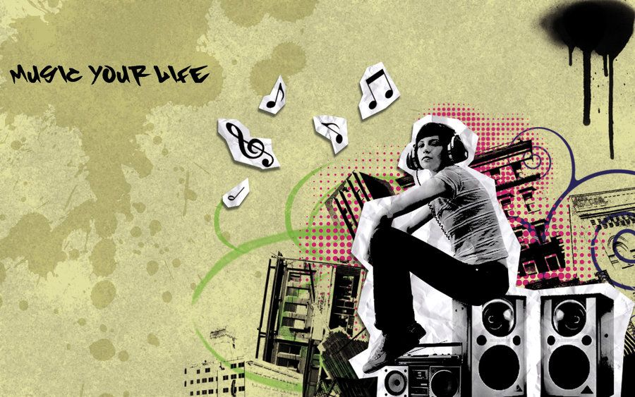 Music Graffiti Wallpapers: Music Graffiti Wallpaper By Mikanx.deviantart.com On