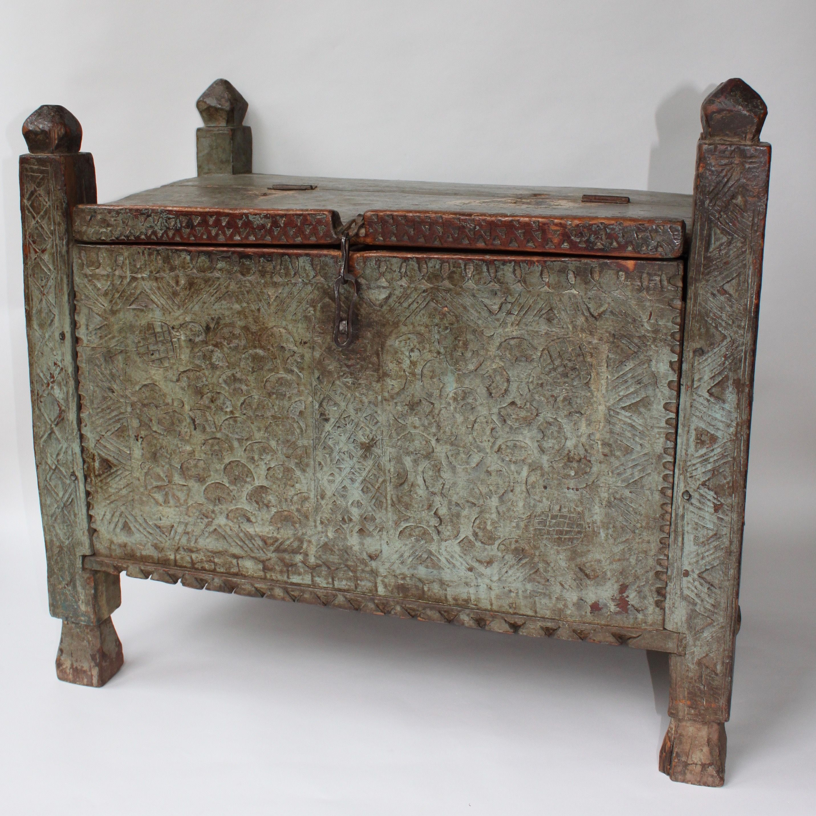 Antique Indian Dowry Chest Stunning C18th. Available on christiannouyou.com