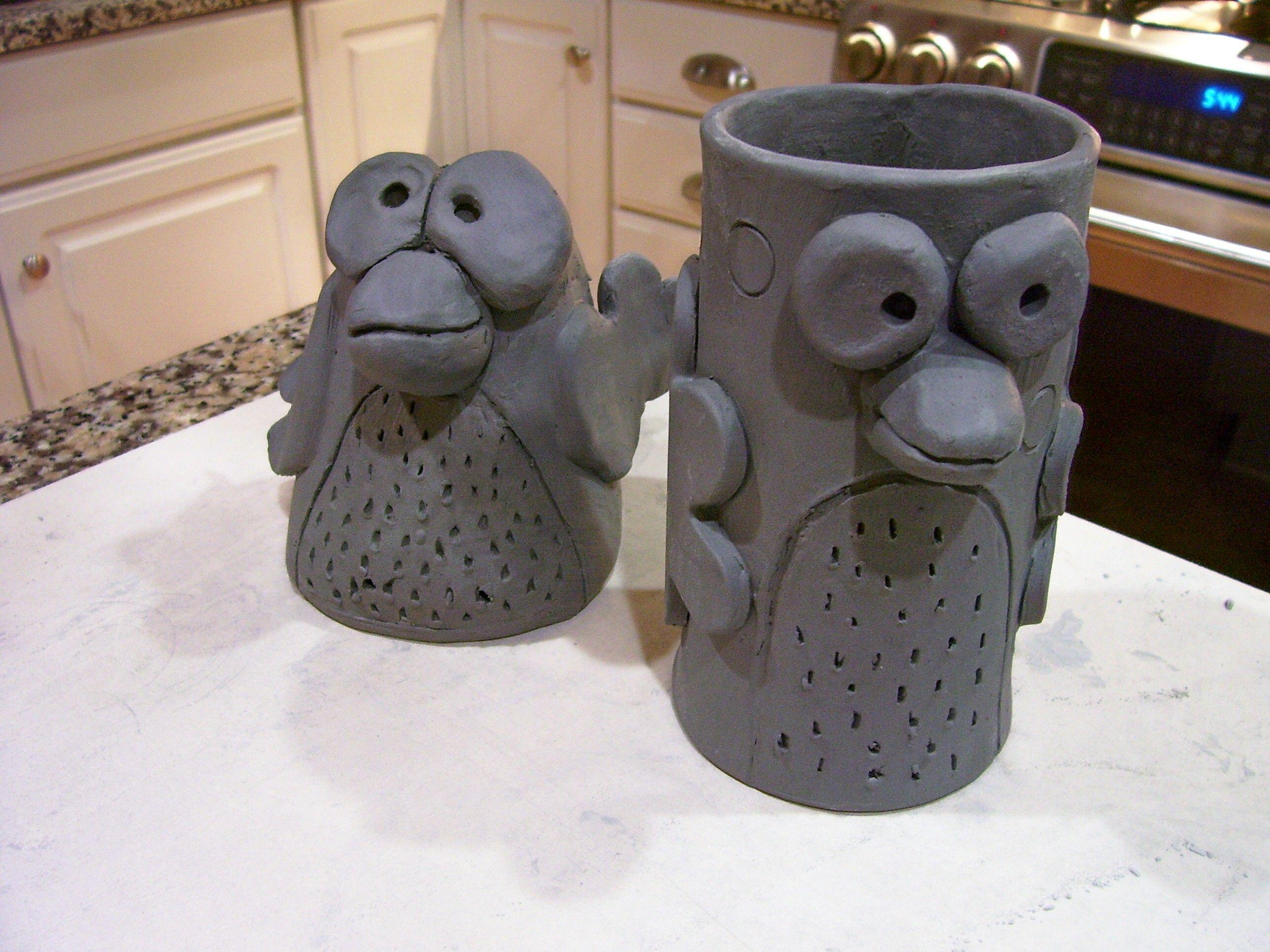 Hand Built Pottery Mugs