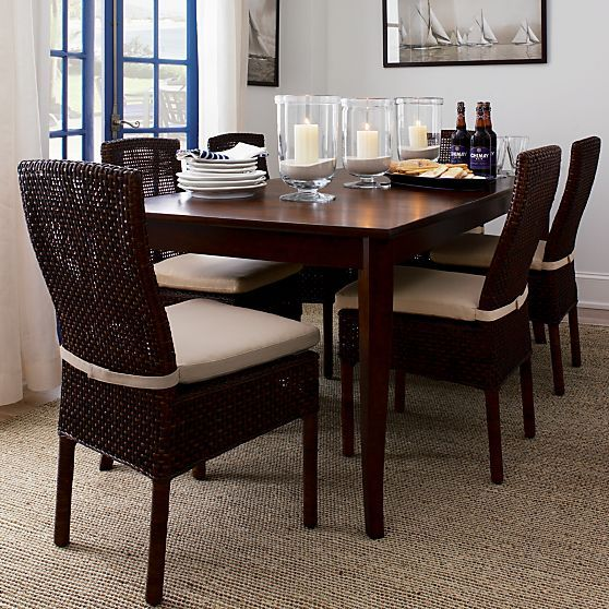 Cabria Honey Brown Extension Dining Table In Dining Tables Crate And Barrel Extension Dining Table Dining Room Remodel Dining Table