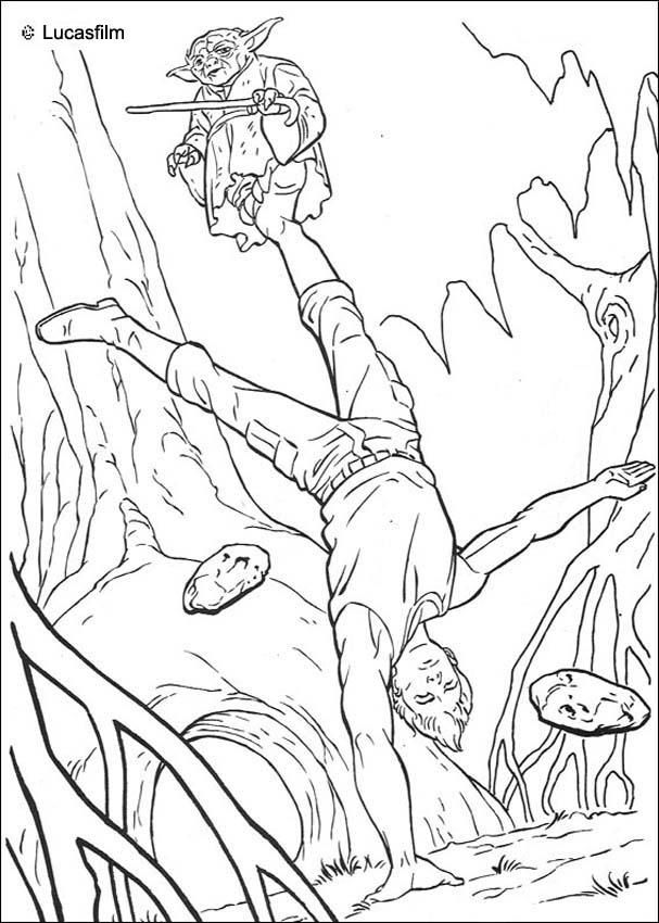 This Jedi Training Coloring Page Would Make A Cute Present For Your Parents You Can Star Wars