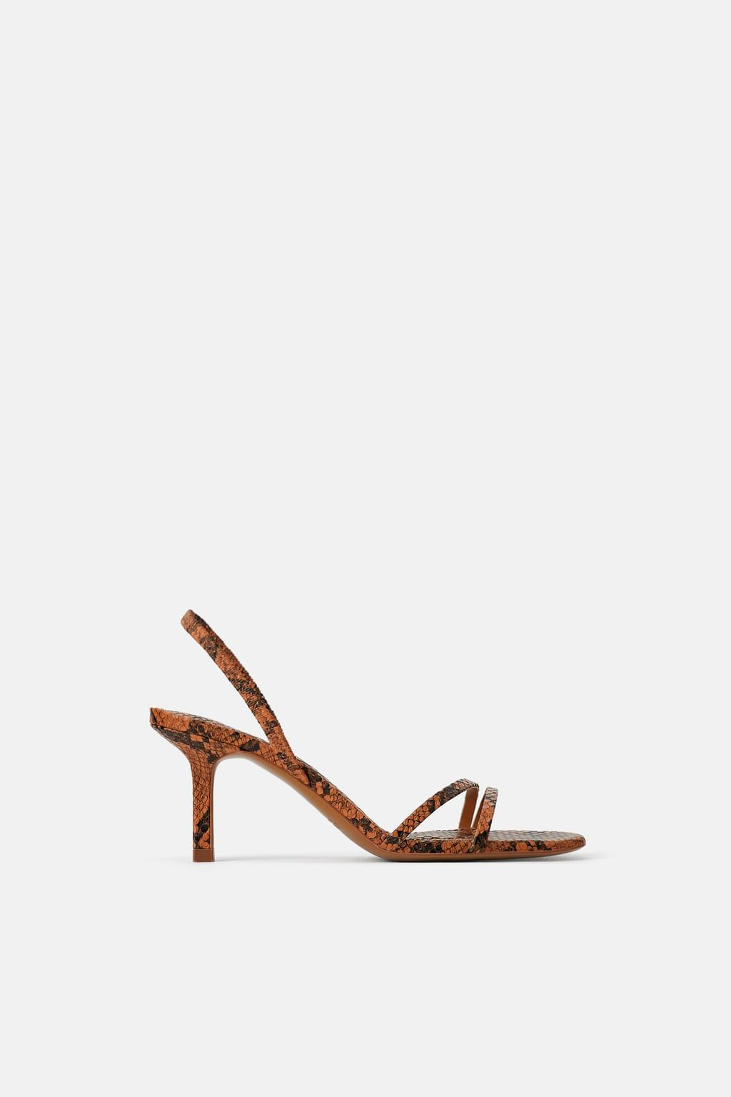Mid Heel Sandals With Elastic Band Detail Strap Sandals Mid Heel Sandals Kitten Heel Sandals
