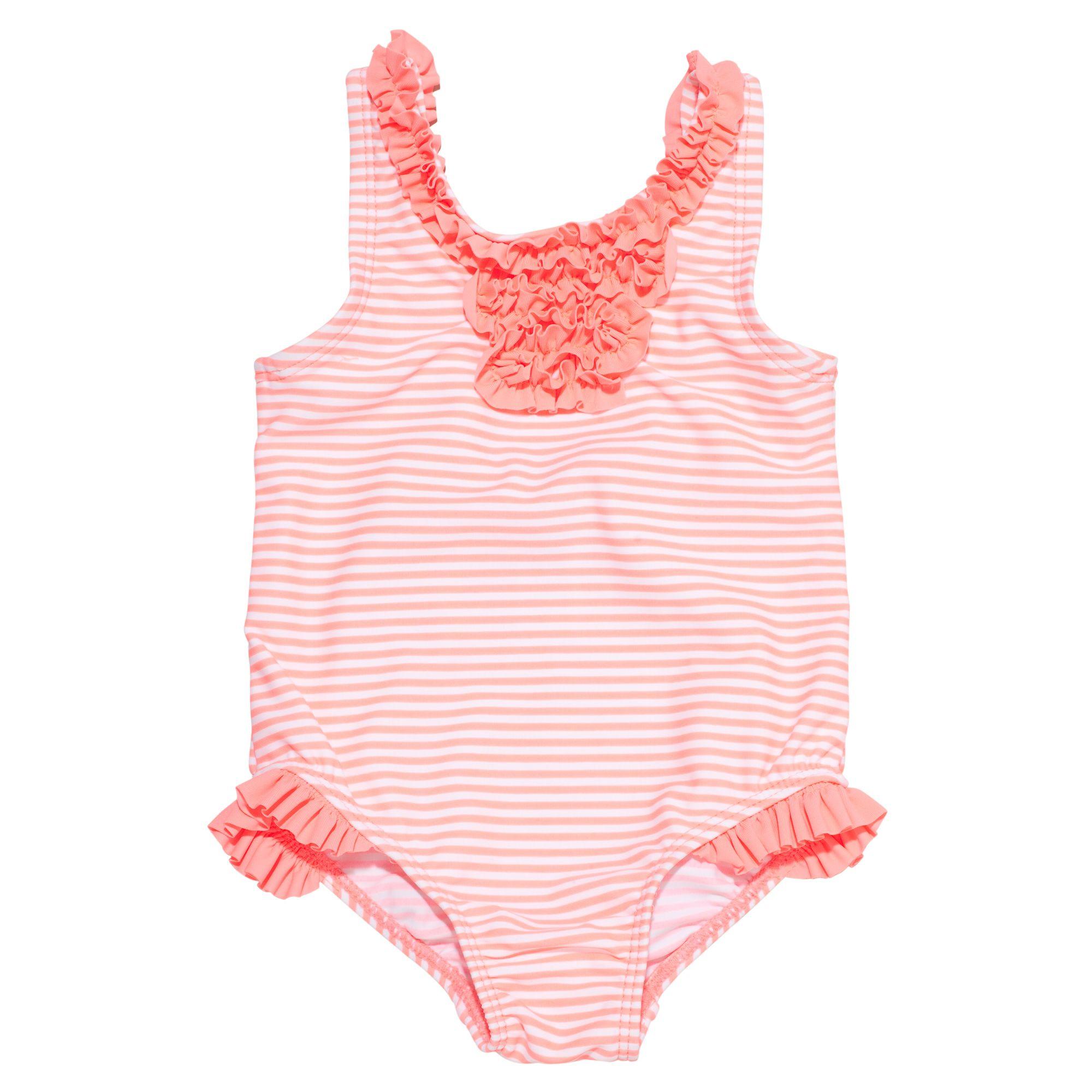 Striped 1 Piece Swimsuit Baby Girl Swimwear