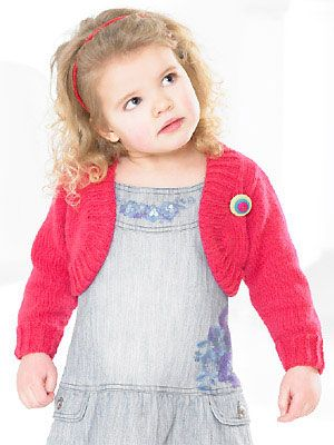 Knit A Little Girls Shrug Free Knitting Pattern Knitting