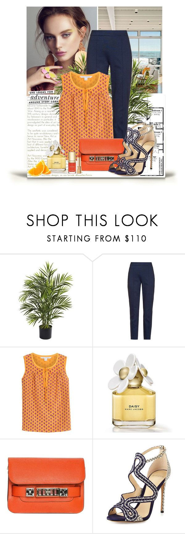"""""""#515"""" by alicab07 ❤ liked on Polyvore featuring Nearly Natural, Kate Spade, Diane Von Furstenberg, Proenza Schouler, Alexandre Birman and Dolce&Gabbana"""