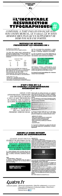 """Exemplaire Unique #5 - """"L'incroyable résurrection typographique du #"""""""