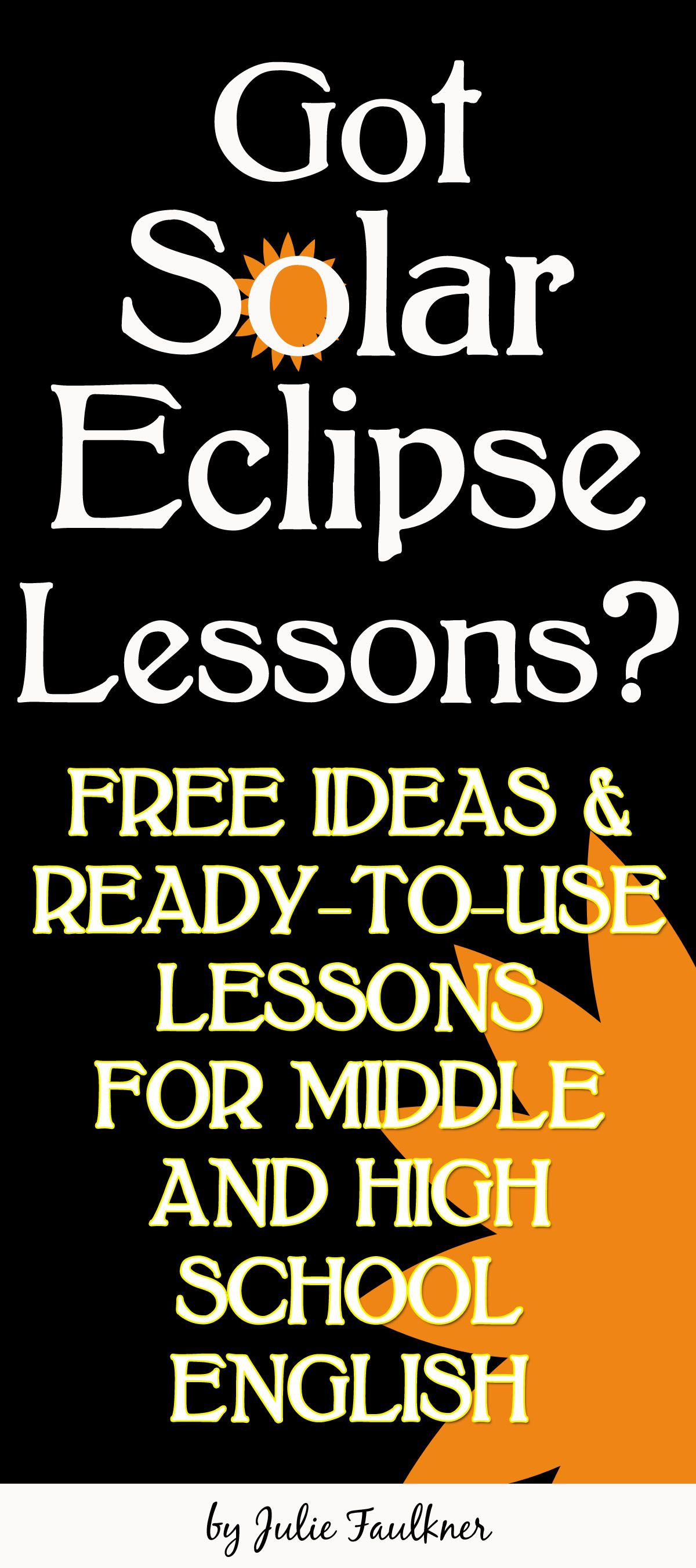 Solar Eclipse Lessons Ideas Free Middle School And High School English All Summer In A Day