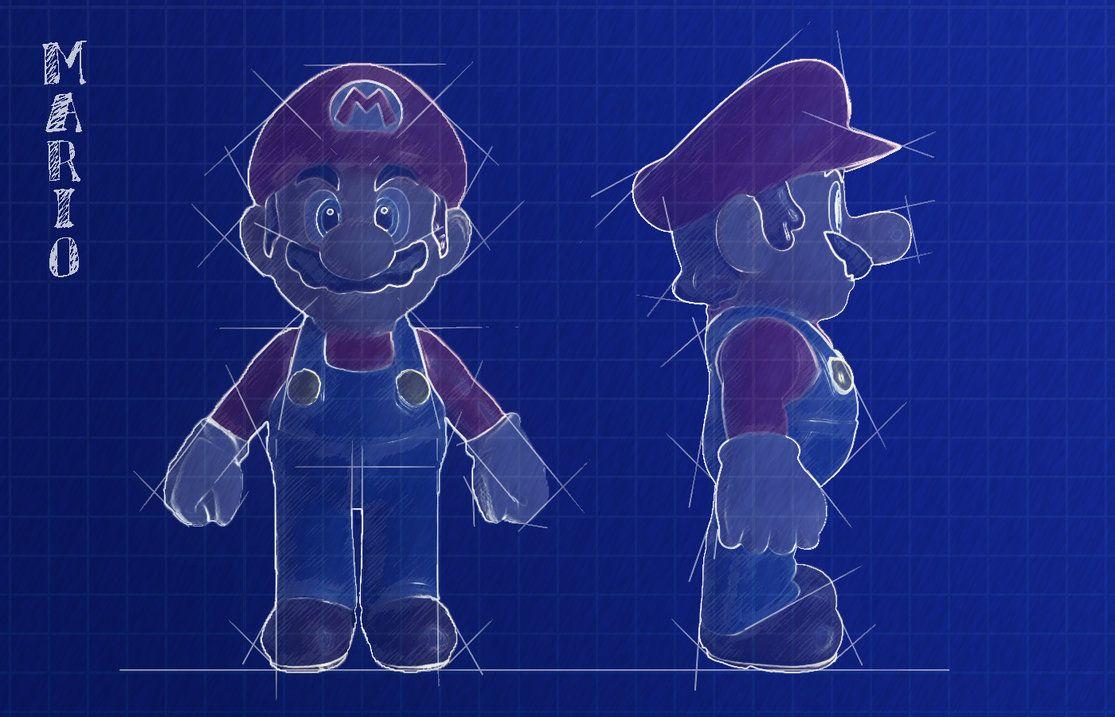 cartoon character blueprints Google Search Desenho 3d