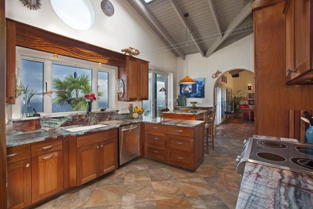 Mahogany shaker cabinets STJ Villa Design Elements