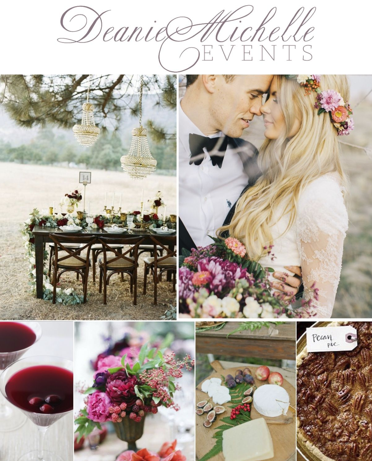 A sweet farm-to-table Thanksgiving family style inspired wedding mood board by Deanie Michelle Events   Dallas Wedding Planner