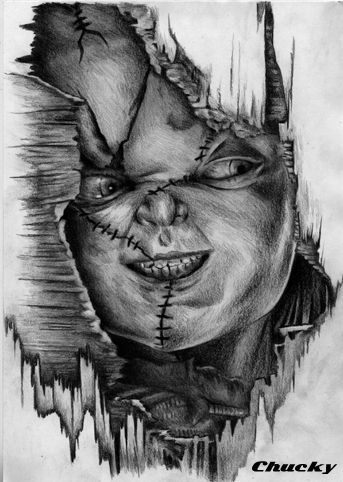 Chucky Drawings In Pencil - Google Search   Horror   Pinterest   Chucky Drawings And Google Search