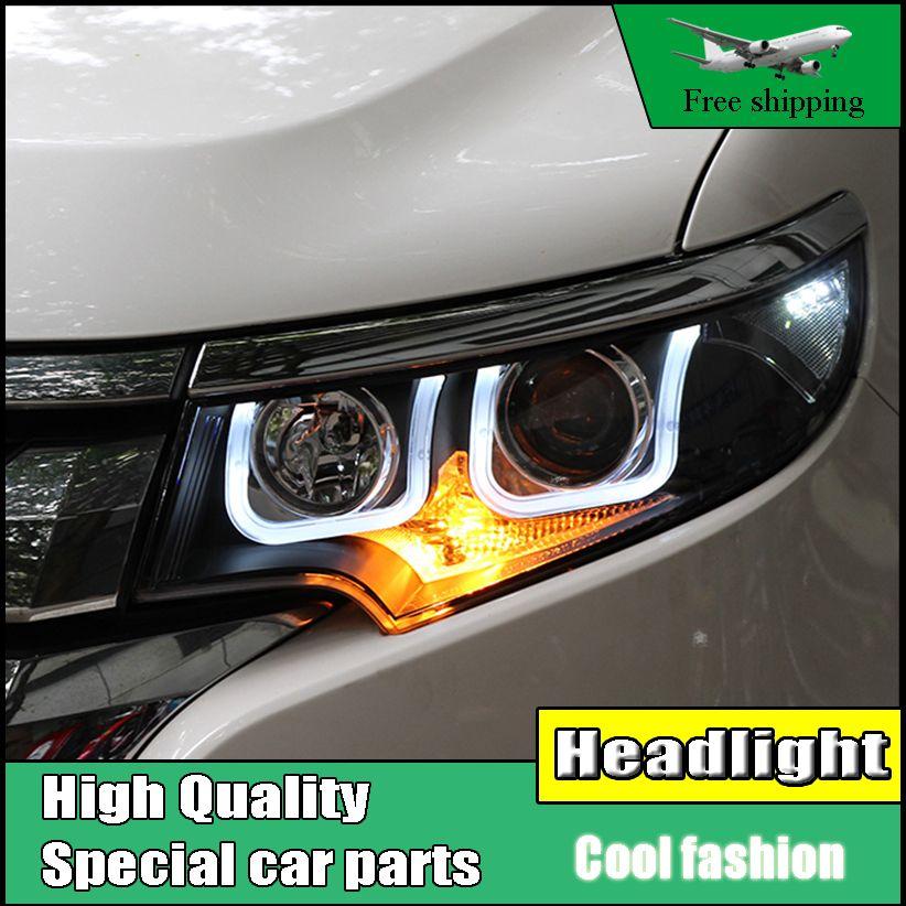Car Styling Head Lamp Case For Ford Edge   Headlights Led Headlight Drl Lens