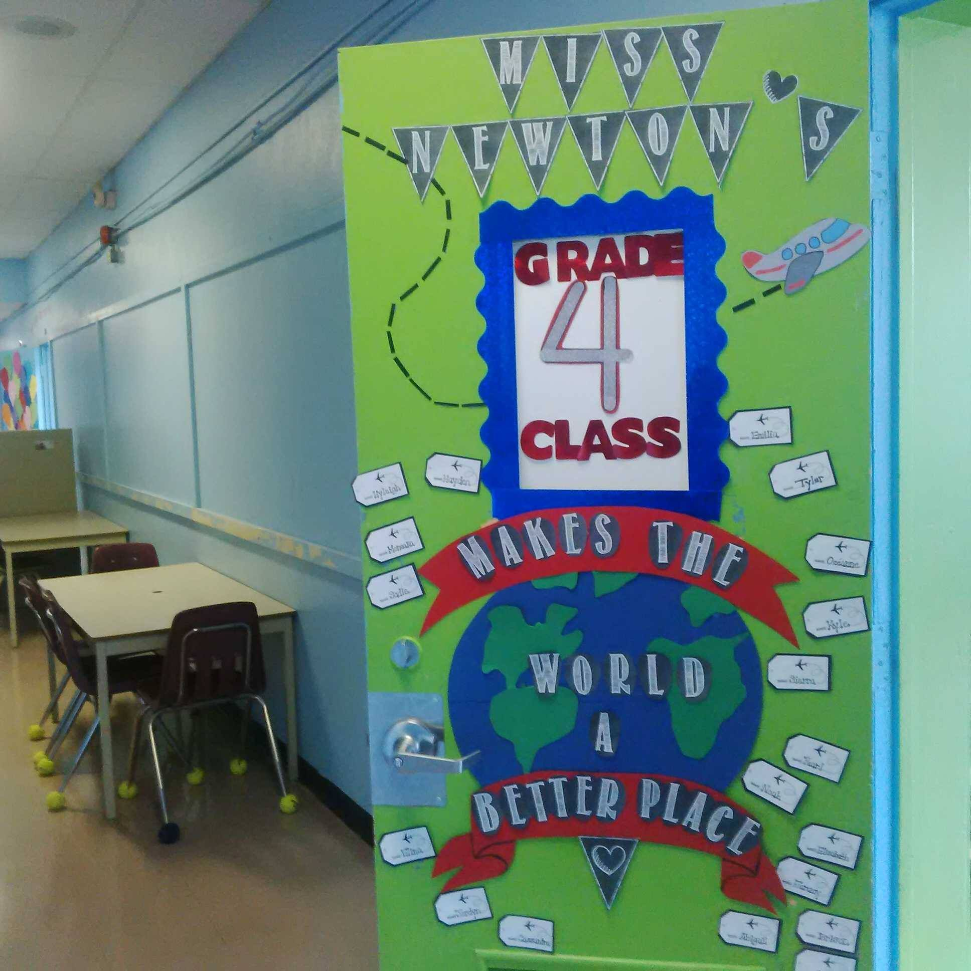 "Grade 4- ""Around the World"" Theme Classroom Door Decor ..."