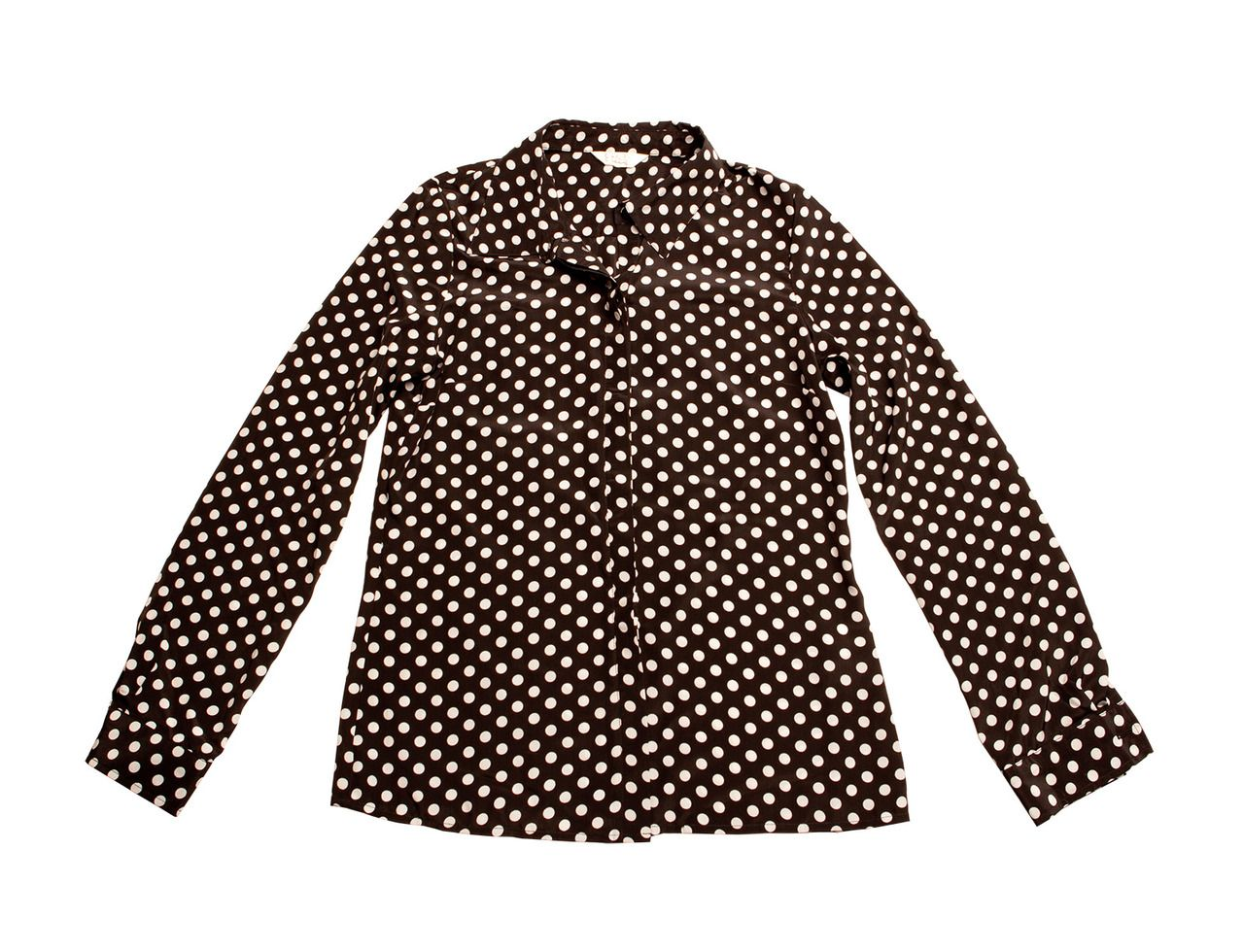 Basic polka dot blouse.