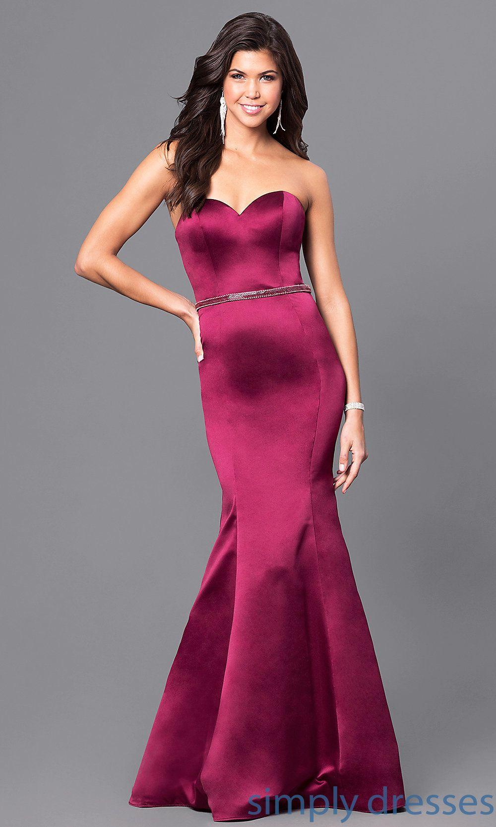 Wine red long blush prom dress with mermaid skirt mermaid skirt