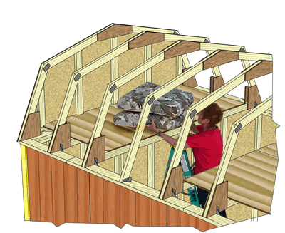 Meadowbrook Shed Overhead Storage Loft Storage Shed Kits Outdoor Storage Sheds Shed With Loft