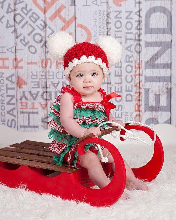2e48269c75f22 Christmas Baby Santa Hat Baby Hat Baby Girl Hat Baby Boy Hat Christmas Hat  Christmas Photo Prop Phot