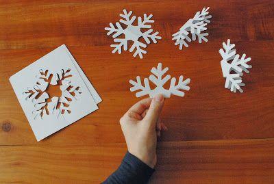 Fiocchi Di Neve Di Carta Per Bambini : Incartesimi: fiocchi di neve di carta: addobbi natalizi a prova di